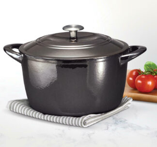 # Tramontina Enameled Cast Iron 7 qt / 6.62-Litres Covered Dutch Oven - Black