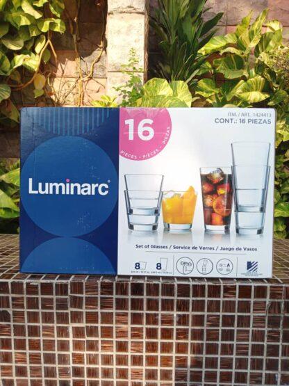 Luminarc Stackable Tempered Glasses - 16 pcs