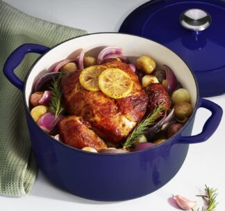 # Tramontina Enameled Cast Iron 7 qt / 6.62-Litres Covered Dutch Oven - Cobalt Blue