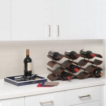 Seville Classics 12 Bottle Wavy Wine Rack