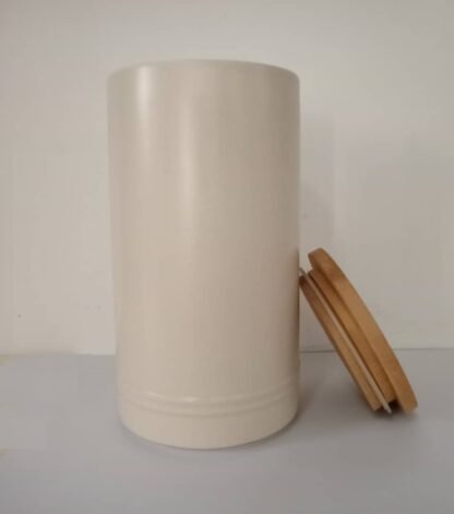 Kirkton House Kitchen Ceramic Canister with Bamboo Lid