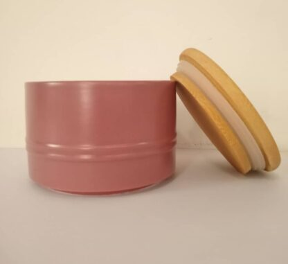 Kirkton House Kitchen Ceramic Canisters with Bamboo Lids