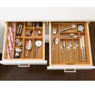 Seville Classics' 4 Piece Bamboo Drawer Organizers