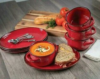 Member's Mark 8 Pc Bowl and Platter Set - Electic Red