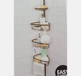 Easy Home Shower Caddy with Pole- Oil Rubbed Bronze