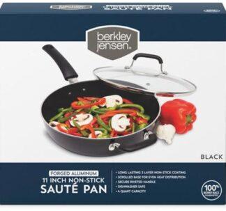 Berkley Jensen 11' Non- Stick Saute Pan- Black