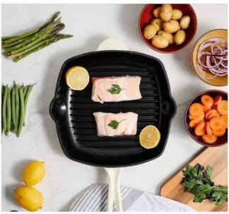 Cast Iron Grill Pan Oven Safe up to 260°C