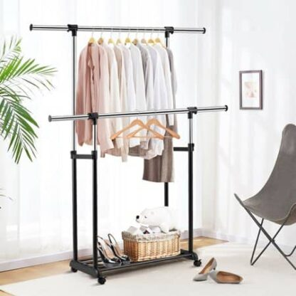 Easy Home Metal Clothes Trolley- Black