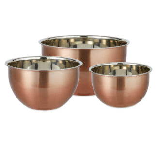 Nested Copper Mixing Bowl 3 Pack