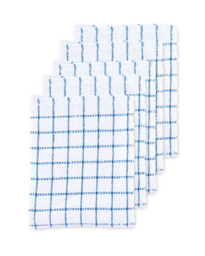 Teal Terry Tea Towels 5 Pack