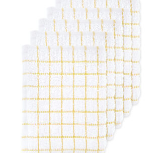 Yellow Terry Tea Towels 5 Pack
