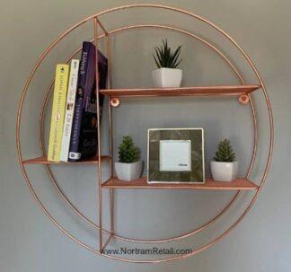 Premium Round Wire Shelf - Copper