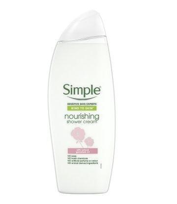 Simple Nourishing Shower Cream With Natural Geranium Oil - 500ml