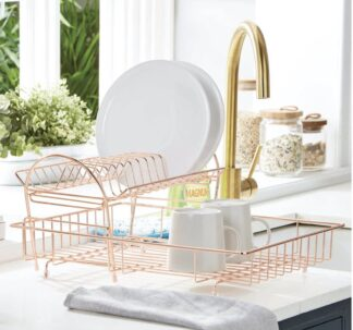 Addis 2 -Tier Dish Draining Rack- Rose Gold