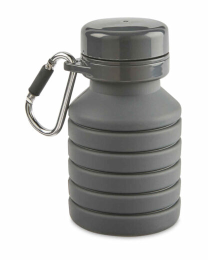 Collapsible Bottle, Extended: 475ml, Collapsed: 225ml (approx.) - Grey