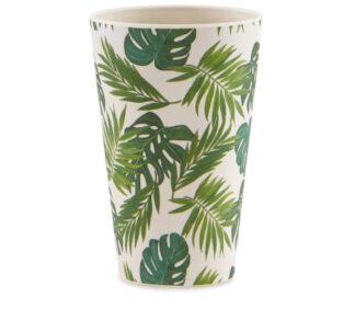 Al Fresco Dining Green Leaf Bamboo Tumblers 4 Pack
