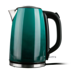 SILVERCREST Stainless Steel Kettle, Dry Hanger Protection, Limescale Filter - 1.7 Litres Green