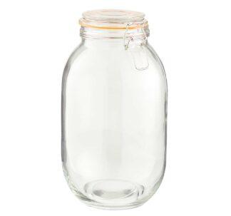 Dunelm Airtight Lever Arm Jar - Extra Large 3.1 Litres