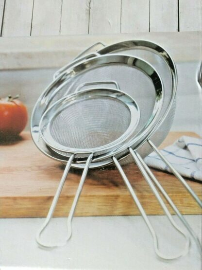 Miu Stainless Steel Mesh Strainers - 3 piece