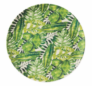 Al Fresco Dining Green Leaf Bamboo Plates 4 Pack