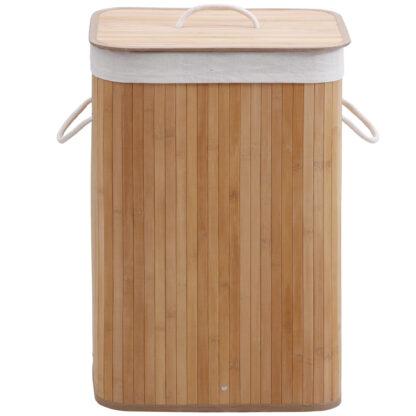 Rectangular Bamboo Laundry Hamper- 72 Litres