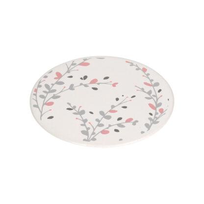 Silhouette Flower Ceramic Coaster