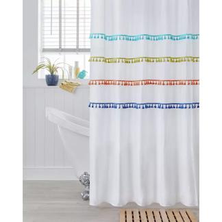Argos Home Tassel Shower Curtain