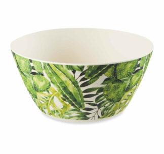 Al Fresco Dining Palm Bamboo Bowls - 4 Pack