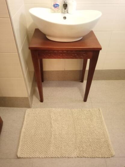 Cooke & Lewis Chanza Mastic Cotton Dot & Tufty Slip resistant Bath mat - (L)800mm (W)500mm
