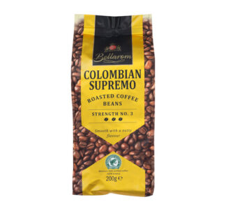 Bellarom Colombian Supremo Roasted Coffee Beans 100% Arabica - 200g