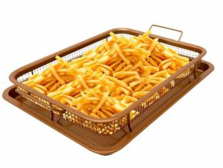 Gotham Steel Non-stick Copper Crisper Tray Set, Air fry in your oven - XXL