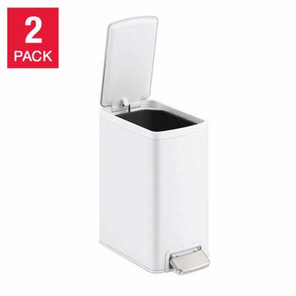 Kohler 6 Liter Stainless Steel Step Trash Bin, 2-pack