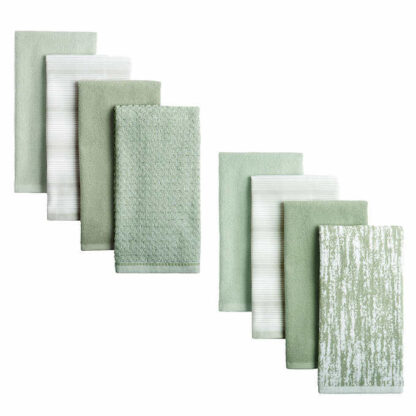 Organic 8-piece Kitchen Towel Set 100% Cotton by Town & Country Living