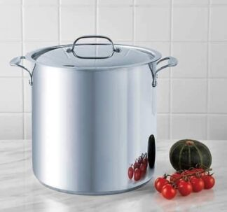 Bergner 16Qt / 15.2 L Stainless Steel Stock Pot with Cover