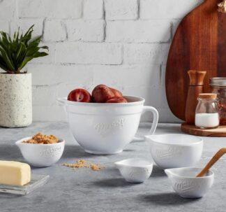 Mason Craft & More 5-Piece Ceramic Batter Bowl & Measuring Cup Set